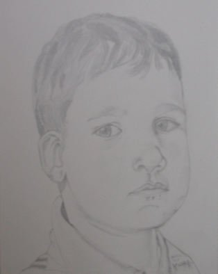 Freddy Raaffels; Yuri, 2008, Original Drawing Pencil, 35 x 45 cm.