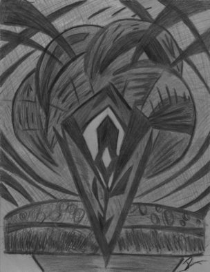 R.l. Armstrong; Life Burst, 2007, Original Drawing Pencil, 8 x 11 inches.
