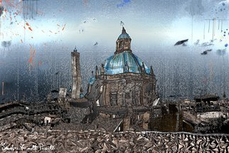Sandro Frinolli Puzzilli; San Petronio Terrace, 2015, Original Digital Art, 70 x 50 cm. Artwork description: 241   Starting from photography use personal mixed techniques for the processing of my works.  ...