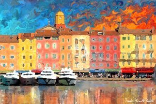Sandro Frinolli Puzzilli; Saint Tropez, 2016, Original Digital Art, 70 x 50 cm. Artwork description: 241 This work was made in Saint Tropez in France with photographic technique subsequently elaborated with digital art and printed on Canson 300 gram paper...