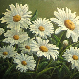 Tatiana Fruleva, , , Original Painting Oil, size_width{Chamomile-1437516833.jpg} X 9.4 inches