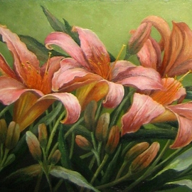 Tatiana Fruleva, , , Original Painting Oil, size_width{Lily-1437516861.jpg} X 7 inches