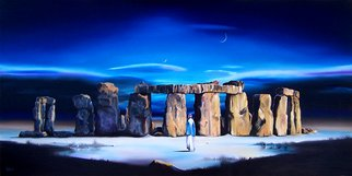 Dj Fedeli; Waiting For The Sun, 2009, Original Painting Oil, 36 x 18 inches. Artwork description: 241   David Fedeli, DJ Fedeli, Fine Art, Landscapes, Surrealism, Neo- Romanticism, Waiting for the Sun, Robert Watson, Oil Painting          ...
