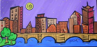 Jan A. Sullivan; Love Thant Dirty Water, 2007, Original Painting Acrylic, 20 x 10 inches. Artwork description: 241  My favorite pieces are of My City Scapes~ I can create your city too! !Ready to hang designs on the side that wrap around the canvas. ...