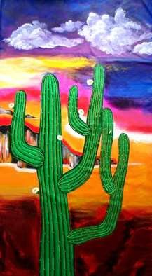 Galina Victoria; Charm Of Arizona, 2009, Original Painting Acrylic, 48 x 90 inches. Artwork description: 241 This artwork is created on phenomenal size 48 x 90  canvas and is offered to you at promotional starting price.   The piece is made with bright colors and some texture.  Painting has pre- painted sides for stretching and unpainted area for stapling on the back.  Surface of ...