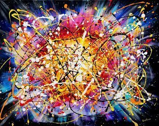 Galina Victoria; Supernova Xtrm2i, 2020, Original Painting Acrylic, 30 x 24 inches. Artwork description: 241 This remarkable artwork is created on 24 x 30  stretched canvas, in acrylic.  The piece is monumental and pronounced in its dynamics and colorful palette.  Title speaks for itself, where image is a pure burst of energy, where presence of this entity is seen and heard through ...