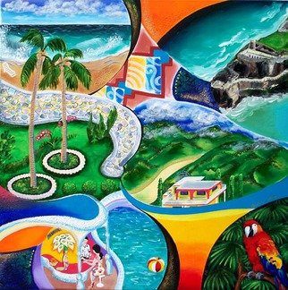 Galina Victoria; Themes Of San Juan Pr, 2009, Original Painting Acrylic, 24 x 24 inches. Artwork description: 241 This painting is presented on 24 x 24  stretched canvas, and it is a creative fusion of San Juan and Puerto Rico impressions, enriched by time and everlasting progress in one s perception of the World.  ...
