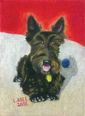 Lauren Allee; Mac, 2007, Original Pastel Oil, 9 x 12 inches. Artwork description: 241  Hand- painted, oil pastel portrait of Scottish Terrier on heavy weight acid, free paper. ...