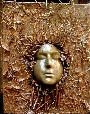 Marybeth Drake; Tree Spirit 12, 2006, Original Mixed Media, 23 x 25 inches. Artwork description: 241  Plaster mask with natural materials ...