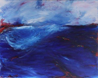 Deborah Brown; Key West, 2013, Original Mixed Media, 30 x 24 inches. Artwork description: 241  Storm moves into the bay on the leeward side of island ...