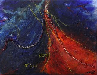 Deborah Brown; Not Now, 2012, Original Mixed Media, 18 x 14 inches. Artwork description: 241  Can children or passion wait? ...