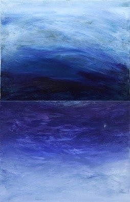 Deborah Brown; Oceans, 2012, Original Painting Acrylic, 18 x 28 inches. Artwork description: 241  Our heavens reflect the depth of oceans ...