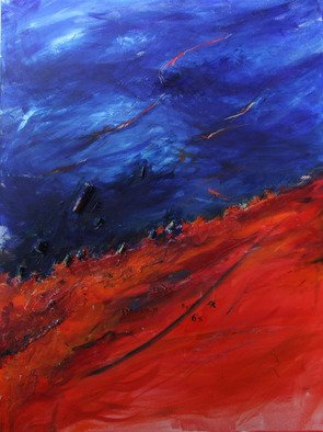 Deborah Brown; Sky Of Night, 2013, Original Mixed Media, 40 x 30 inches. Artwork description: 241  Internal stars ...