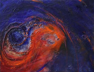 Deborah Brown; Turbulence, 2012, Original Mixed Media, 18 x 14 inches.
