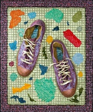 Paul Gazda; Jazzy Shoes, 2007, Original Mixed Media, 20 x 24 inches. Artwork description: 241  Shoes, Acrylic on Wire Mesh  ...