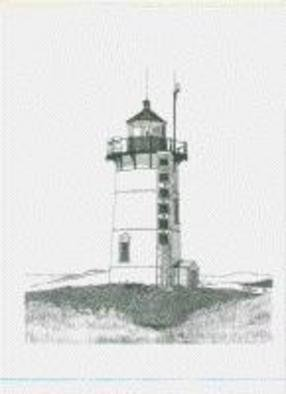Glen Braden; Race Point Lighthouse, 2002, Original Drawing Pen, 10 x 13 inches. Artwork description: 241 Race Point Lighthouse, located on Cape Cod in Massachusetts. The original was sold but we have framed, double- matted prints available....