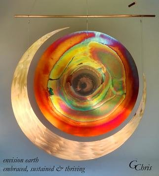 Gary Chris Christopherson; Envision Earth Embraced, 2018, Original Sculpture Mixed, 3 x 3 feet. Artwork description: 241 Envision earth and all its creatures embraced to achieve sustained thriving for all everywhere for all time.Acquire GChris sculpture and 100  of Chris  payment goes for Thrive  Scholarships at University of Wisconsin - Madison. ...