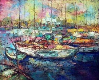 George Baratashvili; Harborage, 2007, Original Painting Oil, 105 x 95 cm.