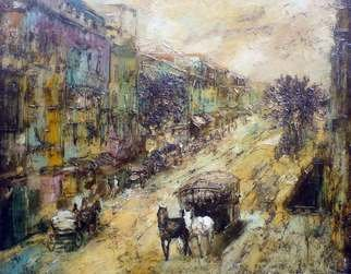 George Baratashvili; Old Tbilisi, 2007, Original Painting Oil, 100 x 80 cm.