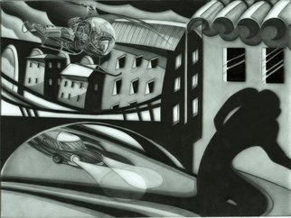 Geo Sipp; Fleeing The Scene In Algiers, 2012, Original Drawing Other, 16 x 12 inches. Artwork description: 241  Fleeing the Scene in Algiers is a drawing on grained glass, a preliminary work for my Wolves in the City project, an in progress graphic novel about the French- Algerian War.                        ...