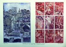 Artist: Jerry Gerard Di Falco's, title: ANGELIC FUSION OF VIOLET SP..., 2014, Printmaking Etching