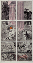 Artist: Jerry Gerard Di Falco's, title: ARCHAEOLOGY      WINDOWS IN..., 2014, Printmaking Etching