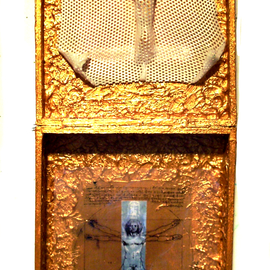 Jerry  Di Falco, , , Original Mixed Media, size_width{CAMERA_NON_OBSCURA_WITH_CRICIFIX-1535559448.jpg} X 27.5 inches