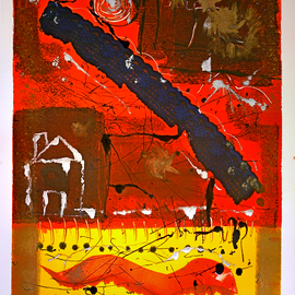 Jerry  Di Falco, , , Original Printmaking Monoprint, size_width{Dragon_Dance_of_the_Holy_Worm-1534784216.jpg} X 30 inches