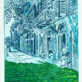 Jerry  Di Falco, , , Original Printmaking Other, size_width{Green_Coconut_Doll_in_1937-1530126876.jpg} X 15 inches