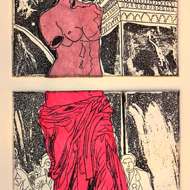 Jerry  Di Falco, , , Original Printmaking Other, size_width{PINK_VENUS-1534270882.jpg} X 15 inches