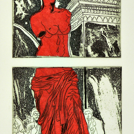 Jerry  Di Falco, , , Original Printmaking Other, size_width{RED_VENUS-1534270615.jpg} X 15 inches
