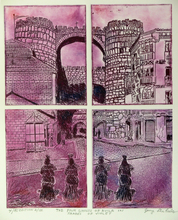 Artist: Jerry Gerard Di Falco's, title: THE FOUR GHOSTS OF AVILA IN..., 2014, Printmaking Etching