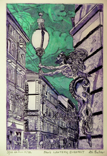 Artist: Jerry Gerard Di Falco's, title: THE LANTERN OF PAN IN BUDAP..., 2014, Printmaking Etching