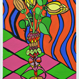 Jerry  Di Falco, , , Original Painting Other, size_width{The_Perceptive_Vase_of_Huxley-1530552482.jpg} X 10 inches