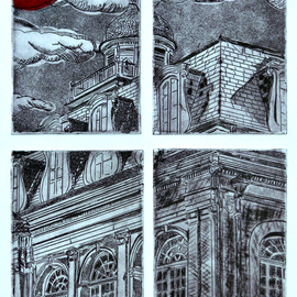 Jerry  Di Falco, , , Original Printmaking Etching, size_width{blood_moon-1559580230.jpg} X 18 inches