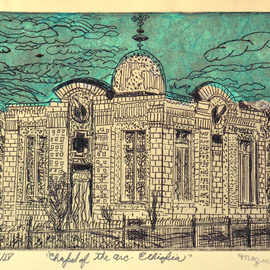 Jerry  Di Falco, , , Original Printmaking Etching, size_width{chapel_of_the_arc-1553279750.jpg} X 10 inches