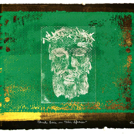Jerry  Di Falco, , , Original Printmaking Etching, size_width{christ_face_in_thin_space-1548093277.jpg} X 16 inches