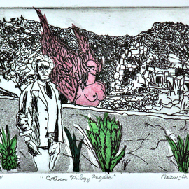 Jerry  Di Falco, , , Original Printmaking Etching, size_width{cocteau_trilogy_angelic-1559580385.jpg} X 12 inches