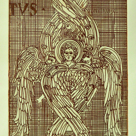 Jerry  Di Falco, , , Original Printmaking Etching, size_width{i_am_seraph-1553278394.jpg} X 17 inches