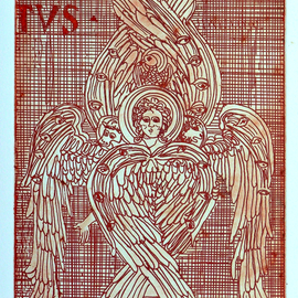 Jerry  Di Falco, , , Original Printmaking Etching, size_width{i_am_seraph_three-1553278365.jpg} X 17 inches