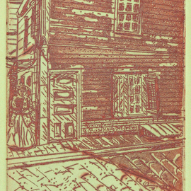 Jerry  Di Falco, , , Original Printmaking Etching, size_width{kater_street_1914-1560018595.jpg} X 12 inches