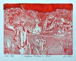 Jerry  Di Falco, 'Orpheus Trilogy In Pink', 2019, original Printmaking Intaglio, 16 x 12  inches. Artwork description: 1911 The artist incorporated the studio techniques of Chine CollA(c), Drypoint, Intaglio, and Aquatint in this etching.  Its media includes oil base etching ink, RivesBFK white paper, and mulberry bark paper from Thailand that was treated with methyl cellulose and infused with kozo threads from Japan.  The work ...
