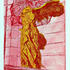 Jerry  Di Falco, , , Original Printmaking Etching, size_width{spider_in_red-1553454422.jpg} X 16 inches