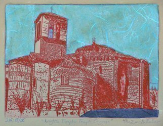 Jerry  Di Falco, 'Templar Church Segovia', 2019, original Printmaking Etching, 16 x 12  inches. Artwork description: 1911 This architectural study, an etching on zinc plate, reflects the soul of the Templar Temple that it represents.  The etching was published and hand- printed by the artist printmaker Jerry DiFalco at the Center For Works on Paper, Fleisher Art School, Open Studio in Printmaking, Philadelphia, Pennsylvania.  ...