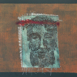Jerry  Di Falco, , , Original Printmaking Other, size_width{the_temple_veil_torn-1562084036.jpg} X 11 inches