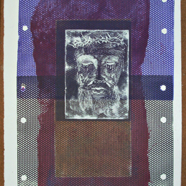 Jerry  Di Falco, , , Original Printmaking Other, size_width{tortured_face_of_christ_two-1511373777.jpg} X 18 inches