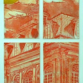 Jerry  Di Falco, , , Original Printmaking Etching, size_width{vampiric_view_french_quarter-1559580120.jpg} X 24 inches