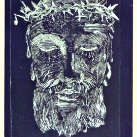 Jerry  Di Falco, , , Original Printmaking Etching, size_width{veil_in_moon-1553280314.jpg} X 15 inches