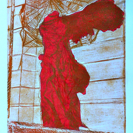 Jerry  Di Falco, , , Original Printmaking Etching, size_width{web_of_light_victory-1559580714.jpg} X 16 inches