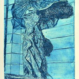 Jerry  Di Falco, , , Original Printmaking Etching, size_width{web_of_paris-1553280018.jpg} X 16 inches